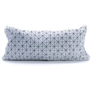 Mika Barr - Geo Origami cushion cover, 60 x 30 cm, black / white