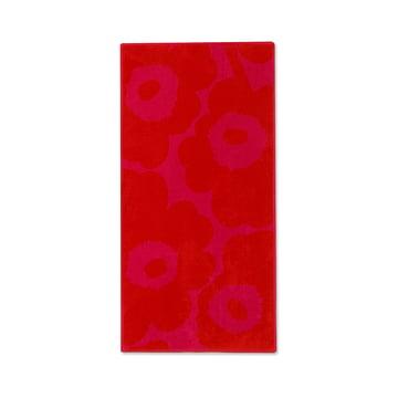 Unikko Solid Hand Towel 50 x 100 cm by Marimekko in Red