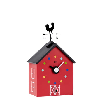 The KooKoo - RedBarn Wall Clock with Farm Animals, small