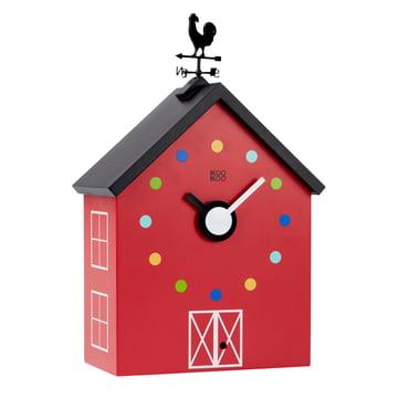 The KooKoo - RedBarn Wall Clock with Farm Animals, large