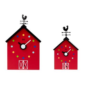 The KooKoo - RedBarn wall clock farm animals in large and small.