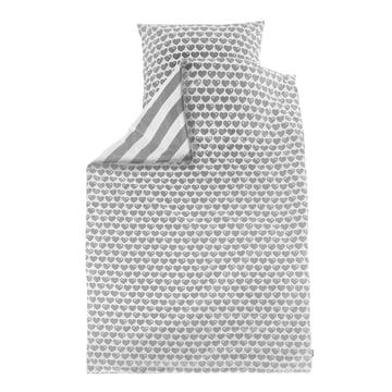 byGraziela - Reversible Bed Linen Hearts 135 x 200cm, white