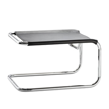 S 35 LH stool by Thonet in chrome / core black leather