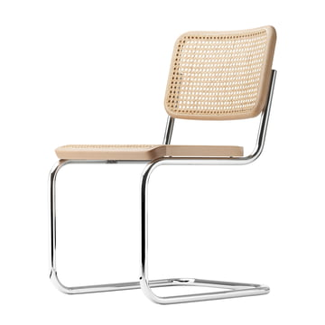S 32 Chair by Thonet in chrome / black stained beech (TP 17) / cane work