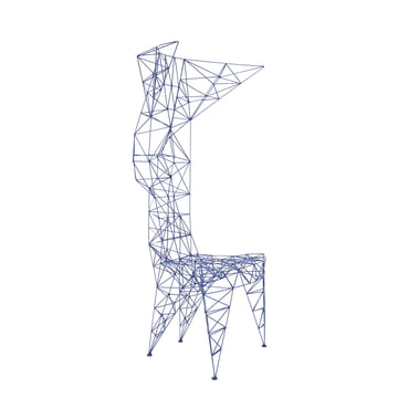 Pylon Chair by Tom Dixon in Blue