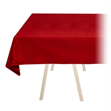Christmas Tablecloth by Georg Jensen Damask in Deep Red