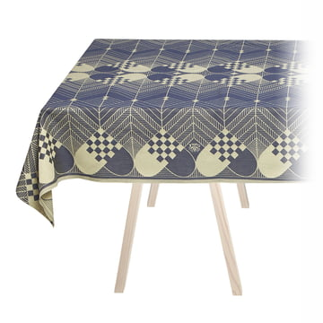 Christmas Table Runner by Georg Jensen Damask in Blue / Gold
