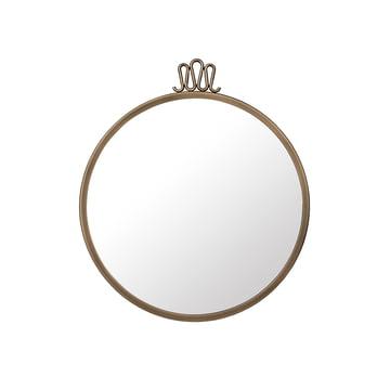 Randaccio Wall Mirror Ø 42 cm by Gubi in Vintage Brass