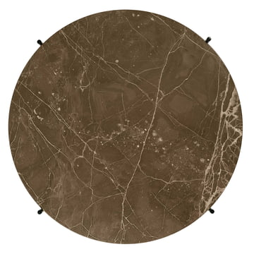 Green Marble Table Top of the TS Coffee Table by Gubi