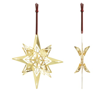 Christmas Star Ornament H 13 cm by Rosendahl, Gold