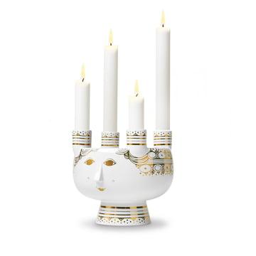 Lucia Candleholder by Bjørn Wiinblad H 15 cm in gold