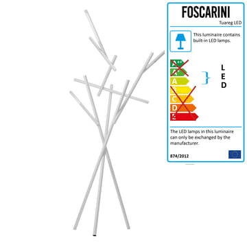 Sculptural Floor Lamp Tuareq by Foscarini in White