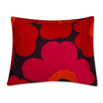 Unikko Pillowcase 65 x 65 cm by Marimekko Dark Red / Red