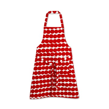 Räsymatto Apron by Marimekko in red / white