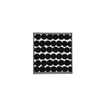 Räsymatto mini towel 25 x 25 cm by Marimekko in black