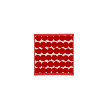 Räsymatto mini towel 25 x 25 cm by Marimekko in Red