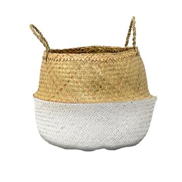 Bloomingville - Seagrass Basket, white