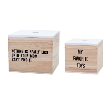 The Toy Box Toys in a set of 2 by Bloomingville in white / natural