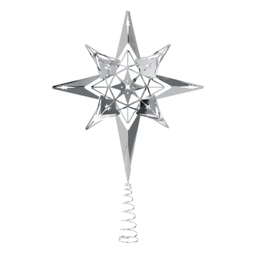 Tree Top Star H 23 cm by Rosendahl in Silver
