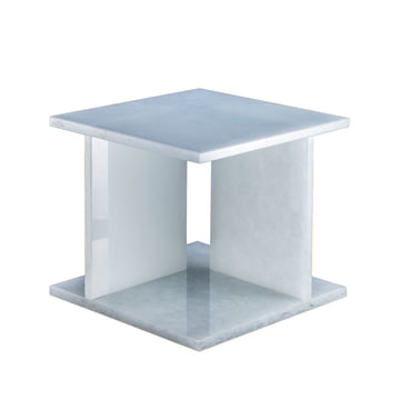 Font Table Low H 36.2 cm by Pulpo in Polar White