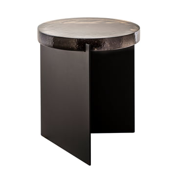 The Pulpo - Alwa One Table, H Ø 44 x 38 cm in Smoky Grey / Black