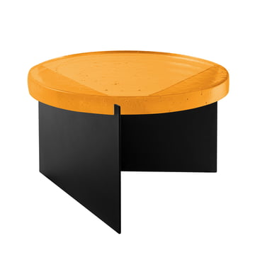 Pulpo - Alwa One Table, H Ø 35 x 56 cm, Amber / Black