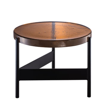 Pulpo - Alwa Two Table Big, H Ø 35 x 56 cm in amber / black