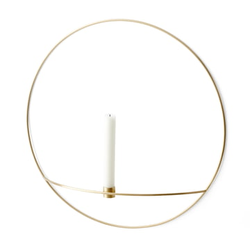 Menu - Pov Circle Candleholder, L in brass
