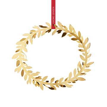 Georg Jensen - Christmas Ornament 2017, Wreath, gold-plated