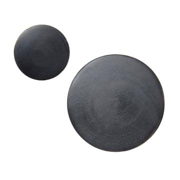 ferm living - small wall hooks, black / brass