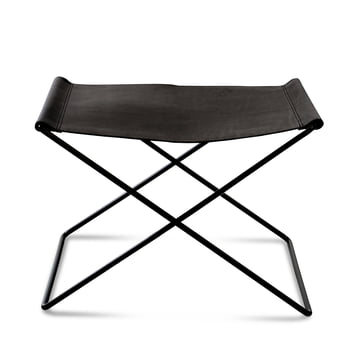 OX Stool by Ox Denmarq, Black Steel / Black Leather