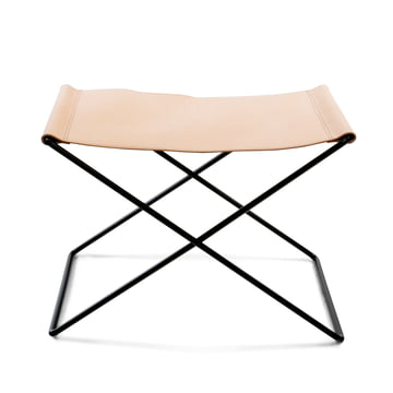 OX Stool by Ox Denmarq, Black Steel / Natural Leather