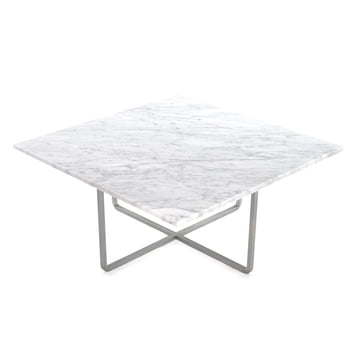 Ox Denmarq - Ninety Coffee Table 80 x 80 cm, stainless steel / white marble