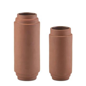 Skagerak - Edge Vase set of 2, 20 cm + 25 cm