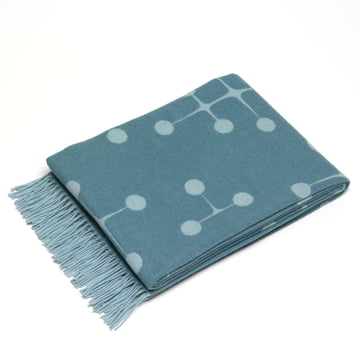 Vitra - Eames Wool Blanket, Dot, light blue
