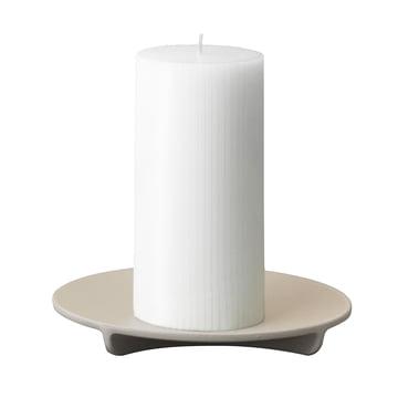 Normann Copenhagen - Fe Pillar Candleholder in Light Grey