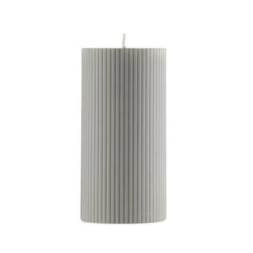 Normann Copenhagen - Grooved Pillar Candles in Grey