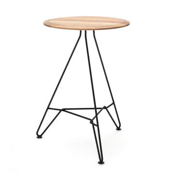 150 Coffee Table H 61 cm / Ø 35 cm by Freistil in Oak