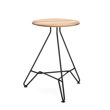 150 Coffee Table H 46 cm / Ø 30 cm by freistil in Oak