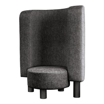 The Pulpo - Bang Easy Chair in Granite / Silver Grey