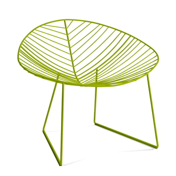Arper Leaf Lounge-Sessel, grün