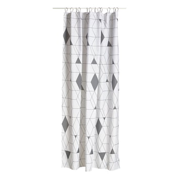 The Zone Denmark - Harlequin Shower Curtain in Grey
