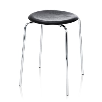 Fritz Hansen - Dot Stool, black ash / chrome