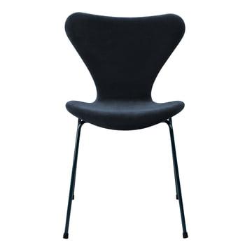 Fritz Hansen x lala Berlin - Serie 7 Chair, front upholstery, Dedar velvet Capsian, blue (limited edition)