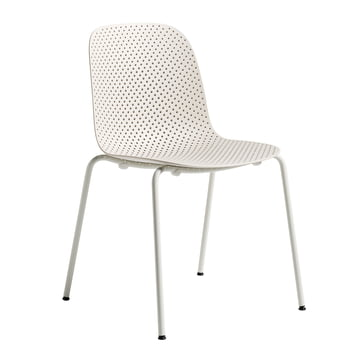 13Eighty Chair by Hay with Grey White Frame / Nude Seat Surface