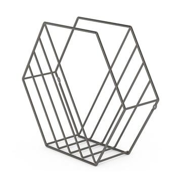 Zina Magazine Rack by Umbra with Titanium Finish