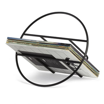 The Umbra - Hoop Magazine Rack in Black