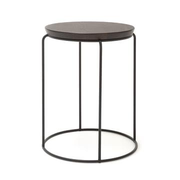 151 Coffee Table H 51 cm Ø 37 cm by freistil in Dark Oak / Jet Black (RAL 9005)
