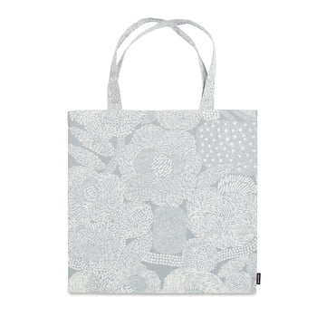 The Marimekko - Mynsteri Shopping Bag in Grey / White