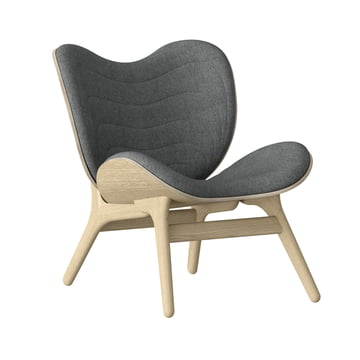 Vita - A Conversation Piece Armchair, natural oak / slate grey